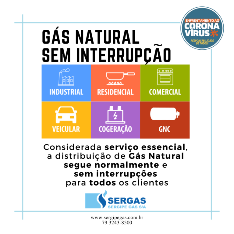 gás natural sem interrupção