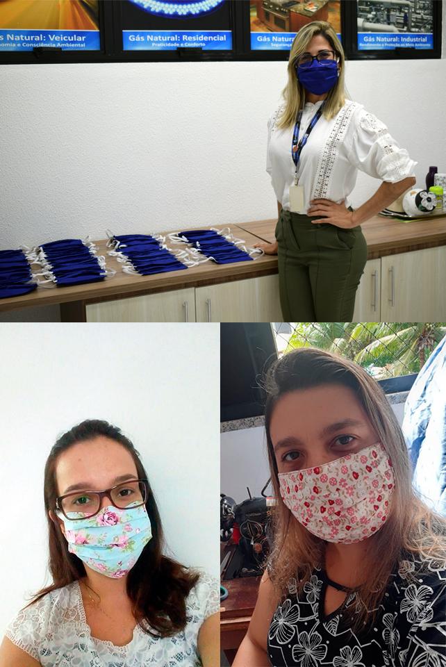 Colaboradores da Sergas realizam campanha de produção de máscaras artesanais