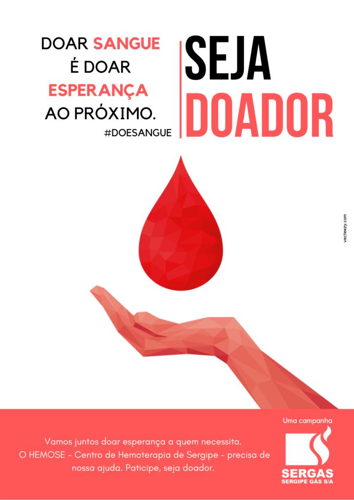 """Funcionários da Sergas dão seguimento a campanha """"Salvando Vidas"""" e realizam doação de sangue no Hemose"""