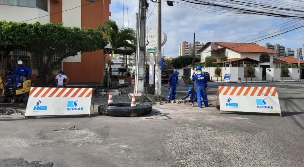Sergas realiza obra de expansão da rede de distribuição de Gás Natural no bairro Luzia