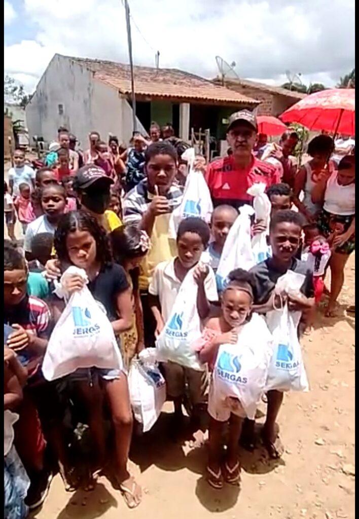 Sergas participa de ação social para o dia das crianças no Povoado Caraíbas